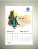 jasa cetak percetakan pencetakan pembuatan kalender Preview kalender Dinding Opsi 3